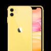 iPhone 11 Yellow Stock Photo